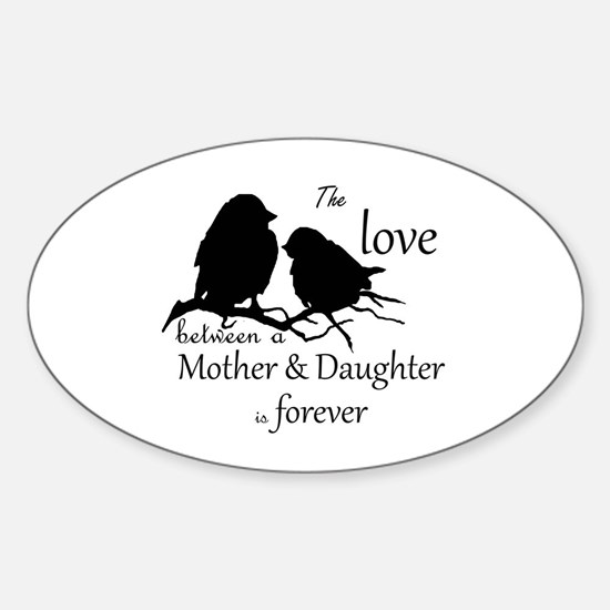 Mother Daughter Love Forever Quote Cute Decal