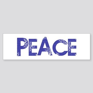 Vintage Peace Bumper Sticker