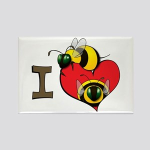 I heart bees Rectangle Magnet