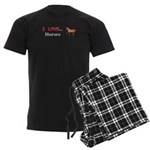 I Love Horses Men's Dark Pajamas