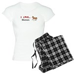 I Love Horses Women's Light Pajamas