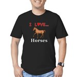 I Love Horses Men's Fitted T-Shirt (dark)