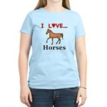 I Love Horses Women's Light T-Shirt