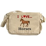 I Love Horses Messenger Bag