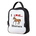 I Love Horses Neoprene Lunch Bag