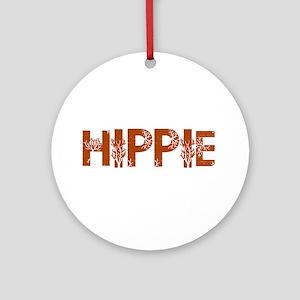 Vintage Hippie Ornament (Round)