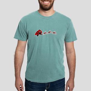 Santa's RV Sleigh Motorcycle Reindeer Flor T-Shirt