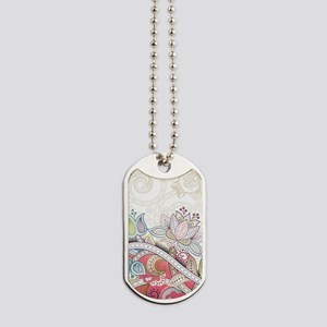 Abstract Floral Dog Tags