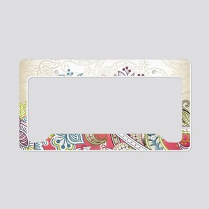Abstract Floral License Plate Holder