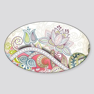 Abstract Floral Sticker