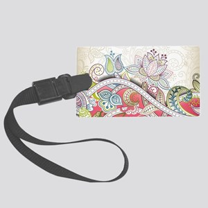 Abstract Floral Luggage Tag