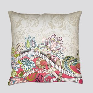 Abstract Floral Everyday Pillow