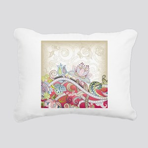 Abstract Floral Rectangular Canvas Pillow