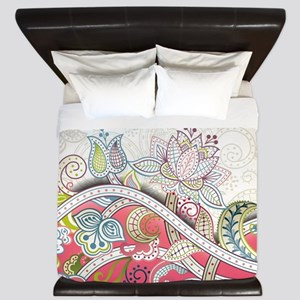 Abstract Floral King Duvet