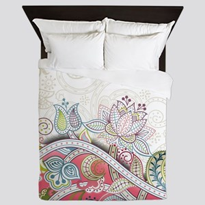 Abstract Floral Queen Duvet
