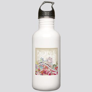 Abstract Floral Water Bottle