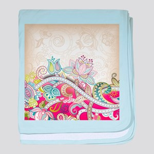 Abstract Floral baby blanket