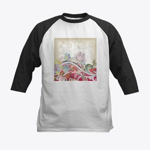 Abstract Floral Baseball Jersey