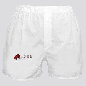Santa's RV Sleigh Golf Cart Reindeer Boxer Shorts