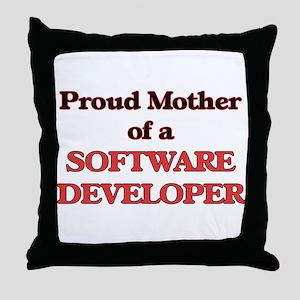 Proud Mother of a Software Developer Throw Pillow