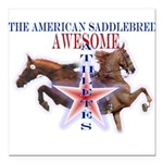 awesome_white_background Square Car Magnet 3