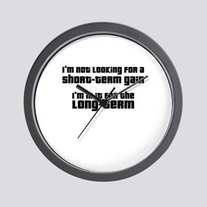 Long-Term Investment Wall Clock