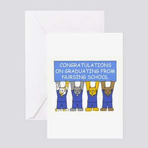 Nursing school graduate congratulat Greeting Cards