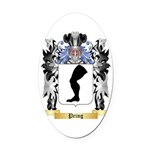 Pring Oval Car Magnet