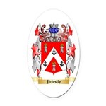 Priestly Oval Car Magnet