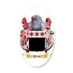 Priest Oval Car Magnet