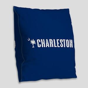 Charleston, South Carolina Burlap Throw Pillow