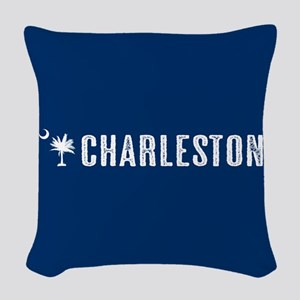 Charleston, South Carolina Woven Throw Pillow
