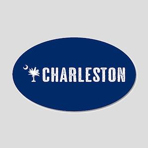 Charleston, South Carolina 20x12 Oval Wall Decal