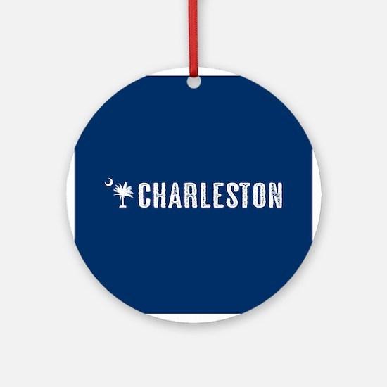 Charleston, South Carolina Round Ornament
