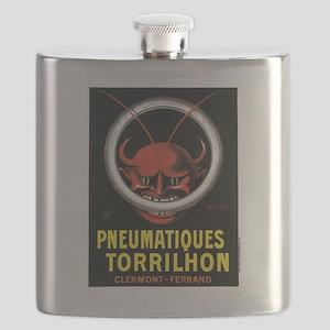 Vintage poster - Pneumatiques Torrilhon Flask