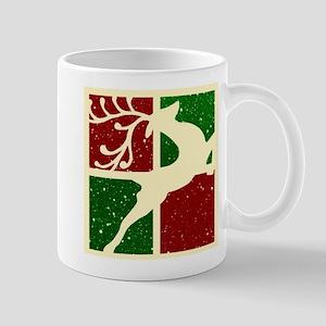 Pop art Christmas deer Mugs