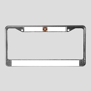 Western Color Block License Plate Frame