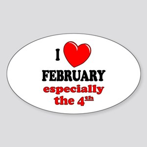 February 4th Oval Sticker