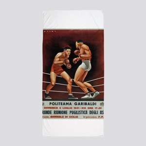 Vintage poster - Boxing Beach Towel