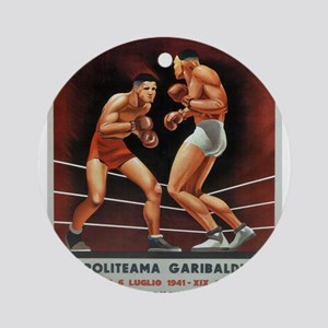Vintage poster - Boxing Round Ornament