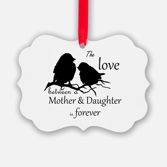 Mother Daughter Love Forever Ornament