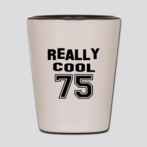Really Cool 75 Birthday Shot Glass