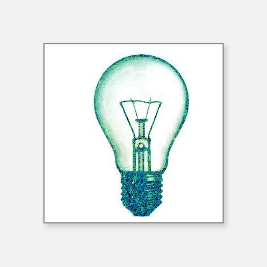 "Cute Light bulb Square Sticker 3"" x 3"""