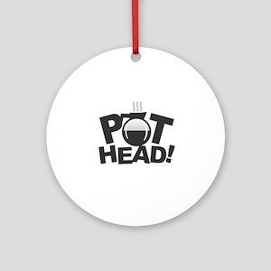 Pot Head Round Ornament