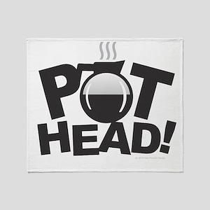 Pot Head Throw Blanket