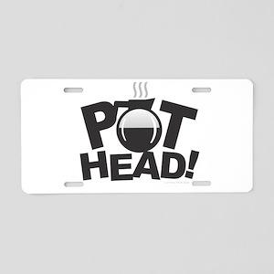 Pot Head Aluminum License Plate
