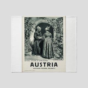 Vintage poster - Austria Throw Blanket
