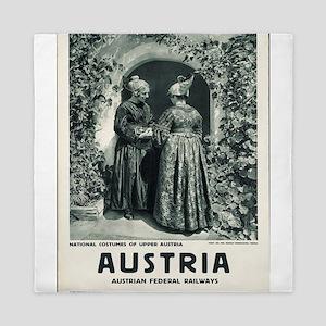 Vintage poster - Austria Queen Duvet