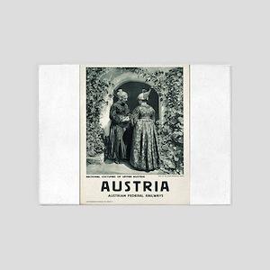 Vintage poster - Austria 5'x7'Area Rug