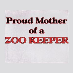 Proud Mother of a Zoo Keeper Throw Blanket